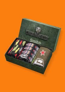 Цветные носки Funny Socks: Набор Закаленная сталь (World of Tanks)